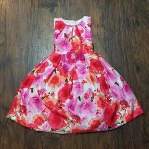 BONNIE JEAN YTH GIRLS FLORAL PRINT LINED DRESS S-7